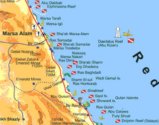 Red Sea Cruise Egypt Destination Plongée The Best Scuba - Map of egypt red sea area