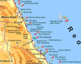 Red Sea Cruise Egypt Destination Plongée The Best Scuba - Map of egypt marsa alam